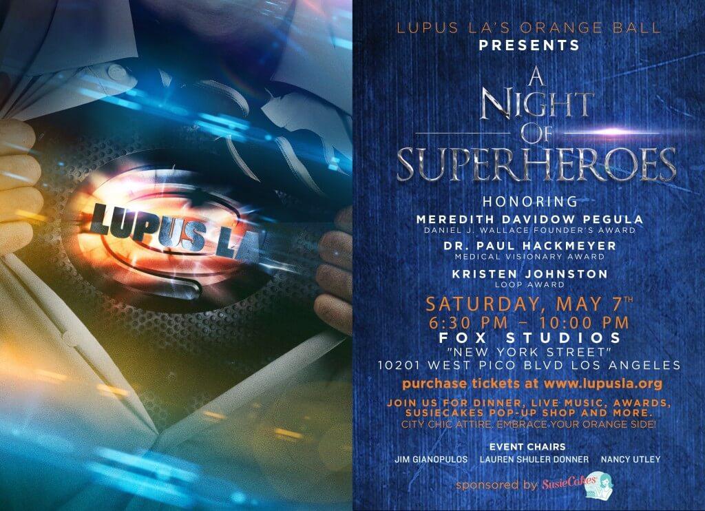 E-Invite to Lupus LA Orange Ball