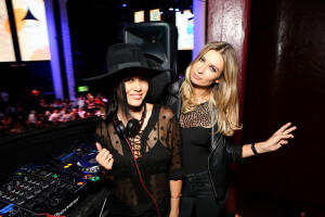 LOS ANGELES, CA - SEPTEMBER 16: Katrina Nova (L) and Kim Lee, of DJ duo KimKat attend the Get Lucky for Lupus LA celebrity poker tournament and party at Avalon on September 16, 2015 in Hollywood California. Lupus LA raises funds for its patient programs, local rheumatology fellowships and research partner, The Lupus Research Institute. (Photo by Tiffany Rose/Getty Images for Lupus LA)