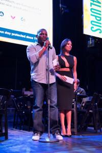 Mekhi Phifer and Cheryl Burke On Stage